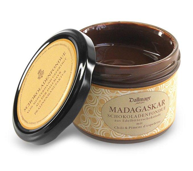Schokoladenfondue Madagaskar mit Chili & Piment d´Espelette